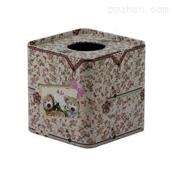 花纹纸巾铁罐