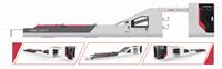 HRB-1300/1450/1600F三合一全自动五层裱纸机
